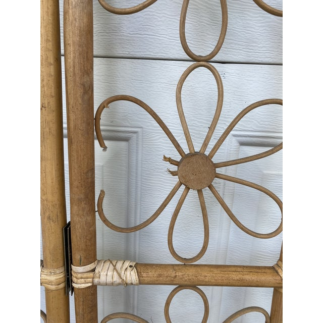 """Bohemian rattan room divider. Not perfect, but who is? Stands on its own when slightly folded. Dimensions are 54"""" x 72""""..."""