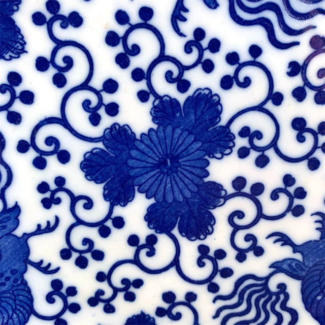 Early 20th Century Japanese Blue and White Plate For Sale - Image 4 of 8