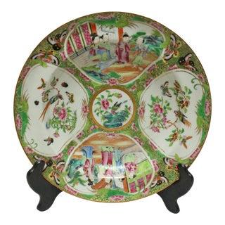 Rose Medallion Soup Plate For Sale