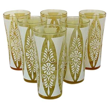 1960s Golden Amber Tumblers - Set of Six - Image 1 of 5