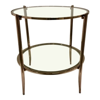 Modern Caracole Metal and Glass at First Blush End Table For Sale