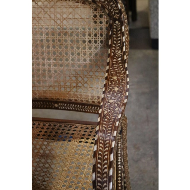 Wood and Bone Inlay Armchair For Sale - Image 4 of 7