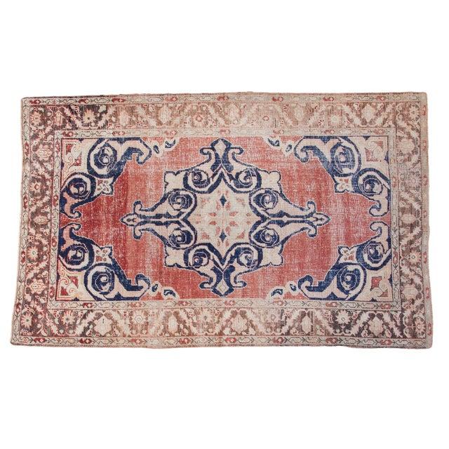 "Distressed Oushak Carpet - 6' X 9'4"" - Image 1 of 10"