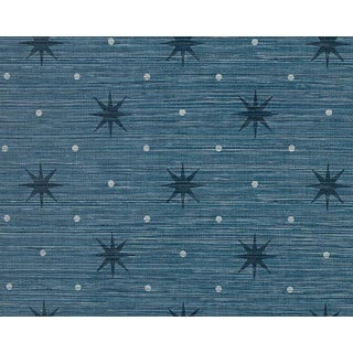 Hinson for the House of Scalamandre Big Trixie Wallpaper in Navy For Sale