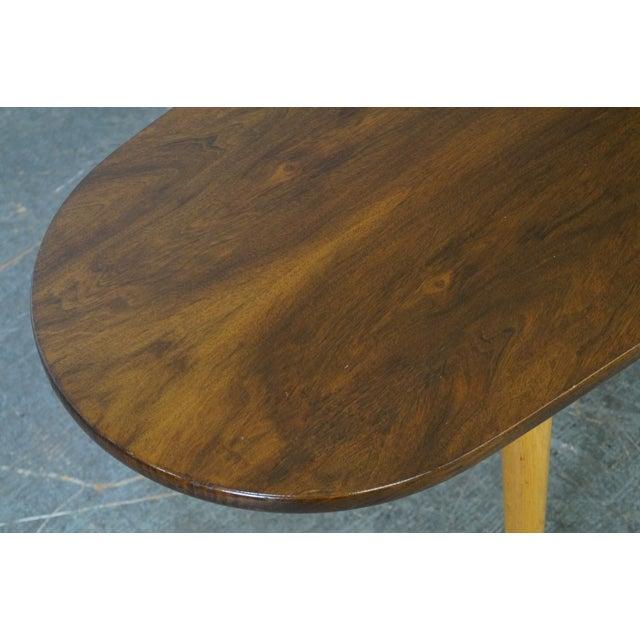 Mid Century Swedish Modern Oval Walnut Coffee Table - Image 6 of 10