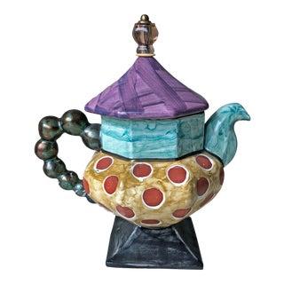 1990s MacKenzie Childs Teapot For Sale