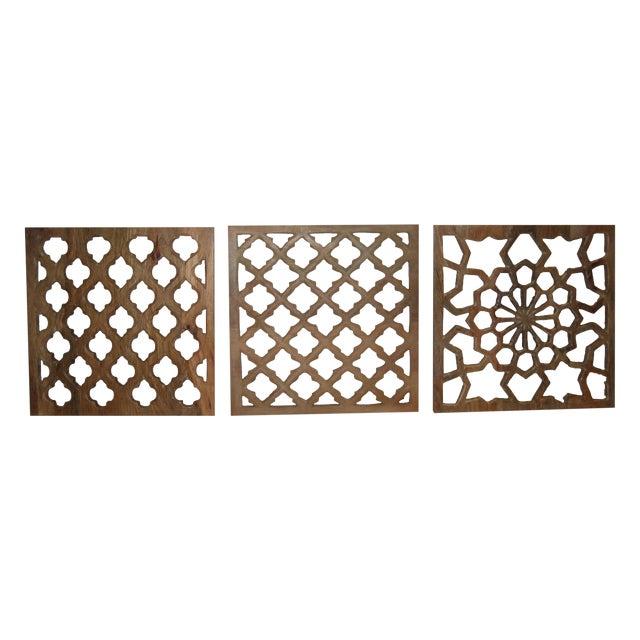 Decorative Wood Panels - Set of 3 - Image 1 of 11