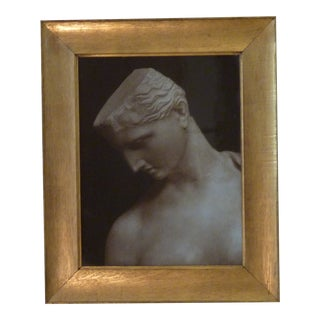 19th Century Antique Grand Tour Style Photo in Golden Chestnut Frame For Sale