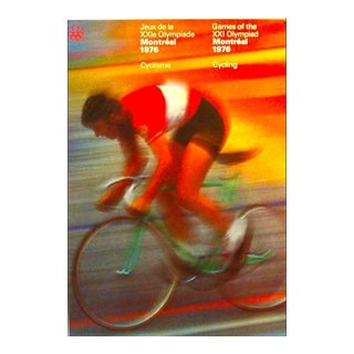 1976 Montreal Olympics Cycling Poster - Cojo For Sale