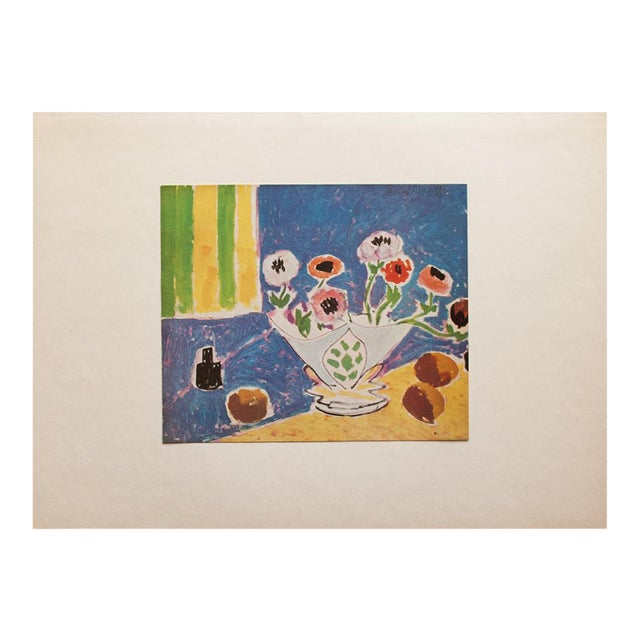 """1946 Henri Matisse Original """"Still Life With Flowers"""" Parisian Period Lithograph For Sale"""