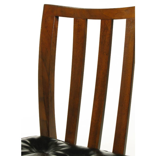Brown Six Bert England Forward Trend Walnut and Leather Dining Chairs For Sale - Image 8 of 11