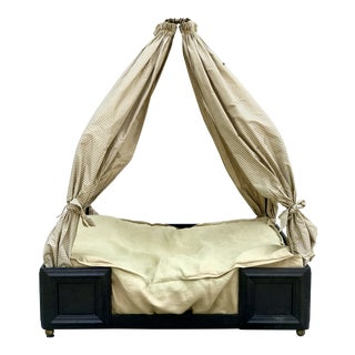 Custom Iron Canopy & Silk Drapes Dog Bed For Sale