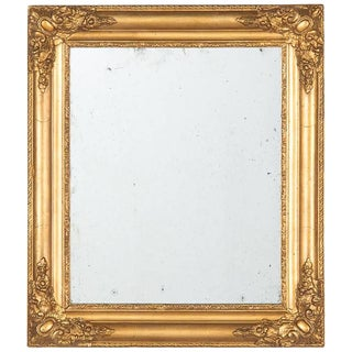 Circa 1870s French Napoleon III Giltwood Mirror For Sale