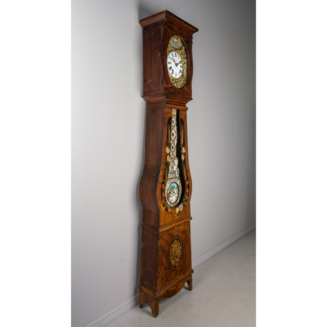 19th Century French Comtoise Grandfather Clock With Automated Pendulum For Sale - Image 9 of 11