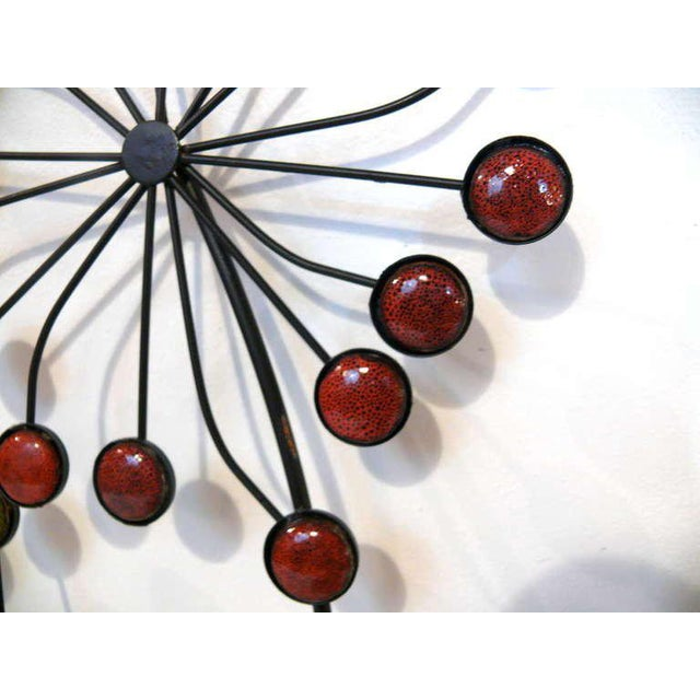 Beaded Floral Wall Sculpture - Image 5 of 8