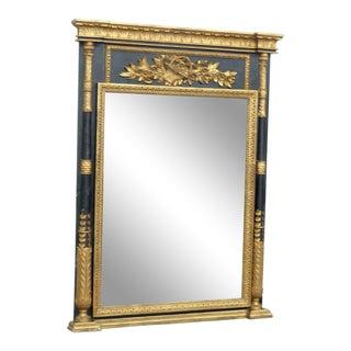 Italian Empire Style Ebonized Gilt Wall Mirror For Sale