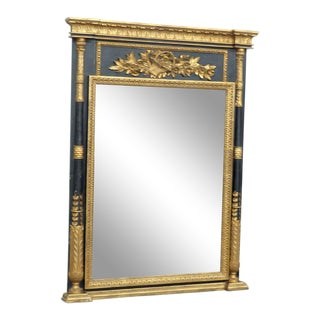 Italian Empire Style Wall Mirror For Sale