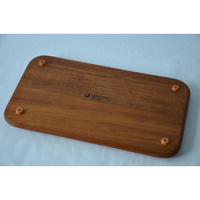 Mid-Century Danish Modern Glass Domed Teak Cheese Serving Board For Sale In Richmond - Image 6 of 9