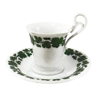Antique Meissen Cup and Saucer - 2 Pieces For Sale