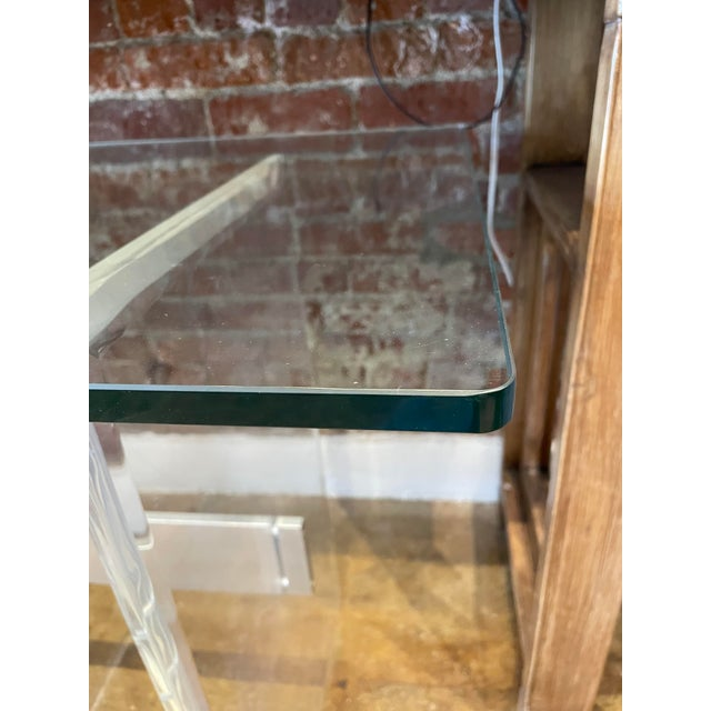 90's Lucite Console For Sale - Image 4 of 8