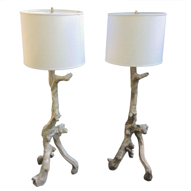 Oly Studio Vicente Resin Floor Lamps - A Pair - Image 1 of 6