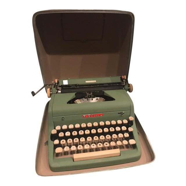 Mid-Century Modern Green Royal Typewriter & Case - Image 1 of 5