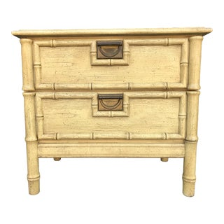 Stanley Furniture Faux Bamboo End Table Hollywood Regency For Sale