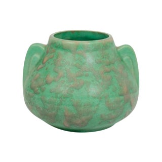 Arts & Crafts Green Pottery Vase For Sale