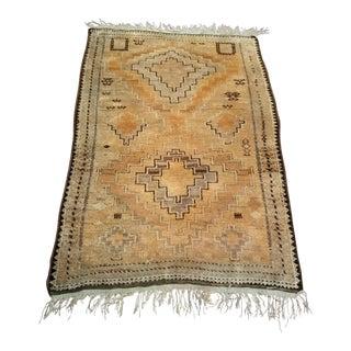 Earth Tone Tribal Rug - 3′3″ × 4′7″