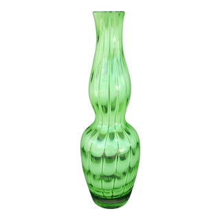 Contemporary Polish Waterford Green Vase