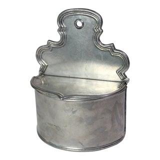 19th Century Antique German Pewter Salt Box For Sale