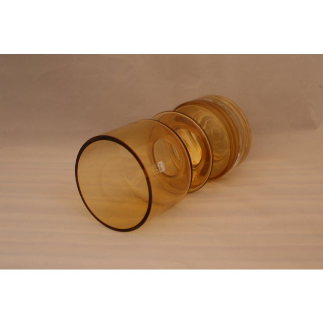 Riihimaen Lasi MCM Riihimaen Lasi Finland Art Glass Vase For Sale - Image 4 of 6