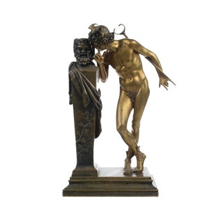 "H. Moulin ""A Secret From on High"" Bronze Sculpture For Sale"