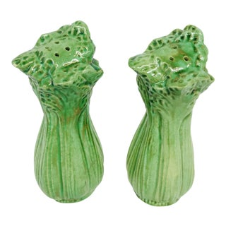 Celery Salt & Pepper Shakers - A Pair For Sale