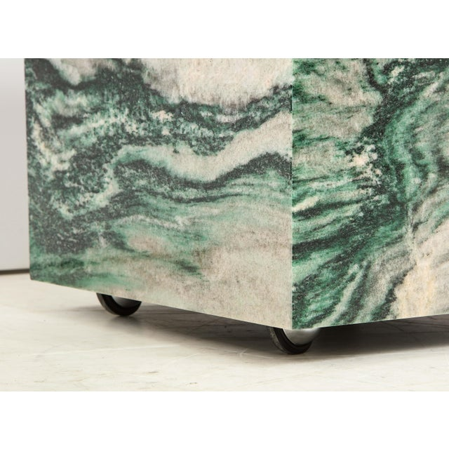 Polar Verde Marble Cubes or Side Tables - a Pair For Sale - Image 10 of 11