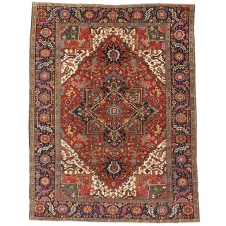20th Century Persian Heriz Rug For Sale