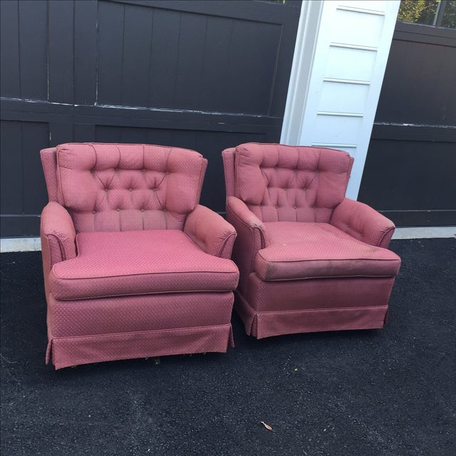 Vintage Swivel Chairs - Pair | Chairish