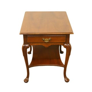 20th Century Queen Anne James River Collection Solid Cherry End Table For Sale