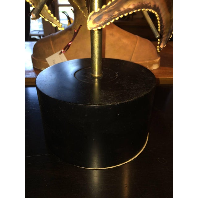 Curtis Jere Style Brutalist Mid-Century Lamp For Sale In New York - Image 6 of 8