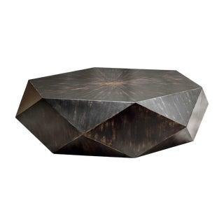 Modern Geometric Wood Coffee Table For Sale