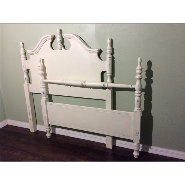 White Chalk Painted Twin Bed Frame - Image 2 of 6