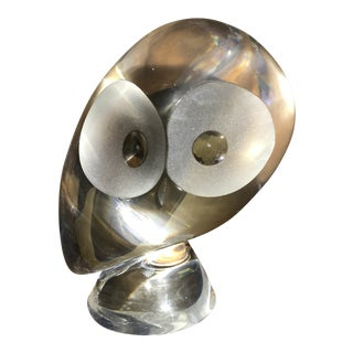 Steuben Glass Owl Figurine For Sale