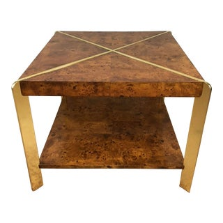 Milo Baughman Burlwood Side Table