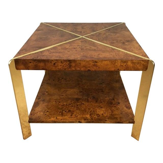Milo Baughman Burlwood Side Table - Image 1 of 8