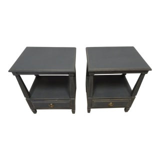 Gustavian Midnight Black Night Stands For Sale