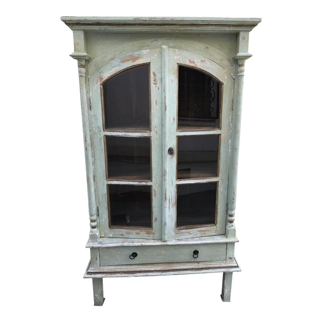 Green Shabby Chic Cabinet - Image 1 of 11