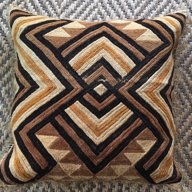 "From the ""Well-Traveled"" series by FringeHome. This beautiful example of Kuba Cloth textile was found at a Brussels flea..."