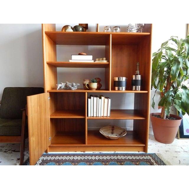 Mid-Century Style Teak Shelving Unit - Image 3 of 5