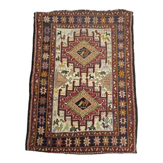 "Antique Hand Knotted Prayer Rug - 27"" x 37"" For Sale"