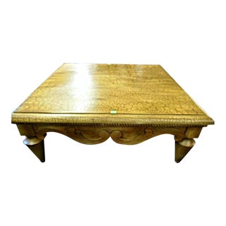 Distressed Wood Cocktail Coffee Center Table For Sale